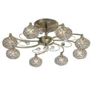 Cara 8 Light in Antique Brass and Crystal - DIYAS IL30948